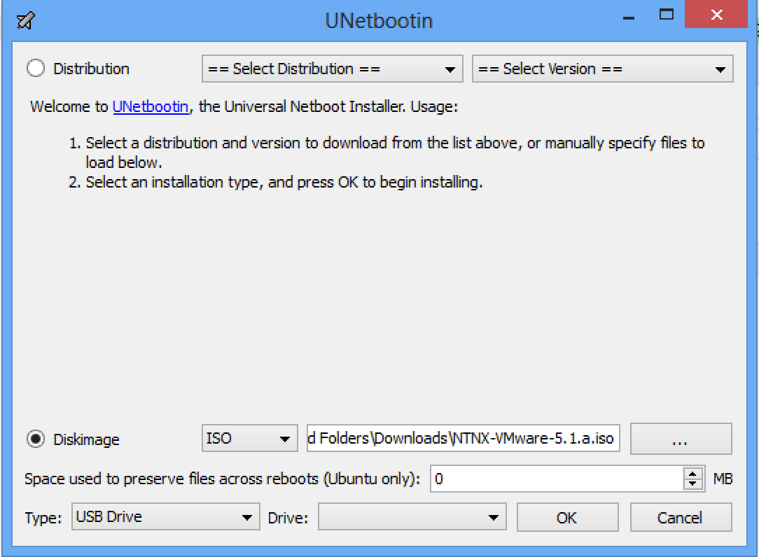 Upgrading your Nutanix NX-2400 block from ESXi 5.0 to ESXi 5.1 using a USB thumb drive.