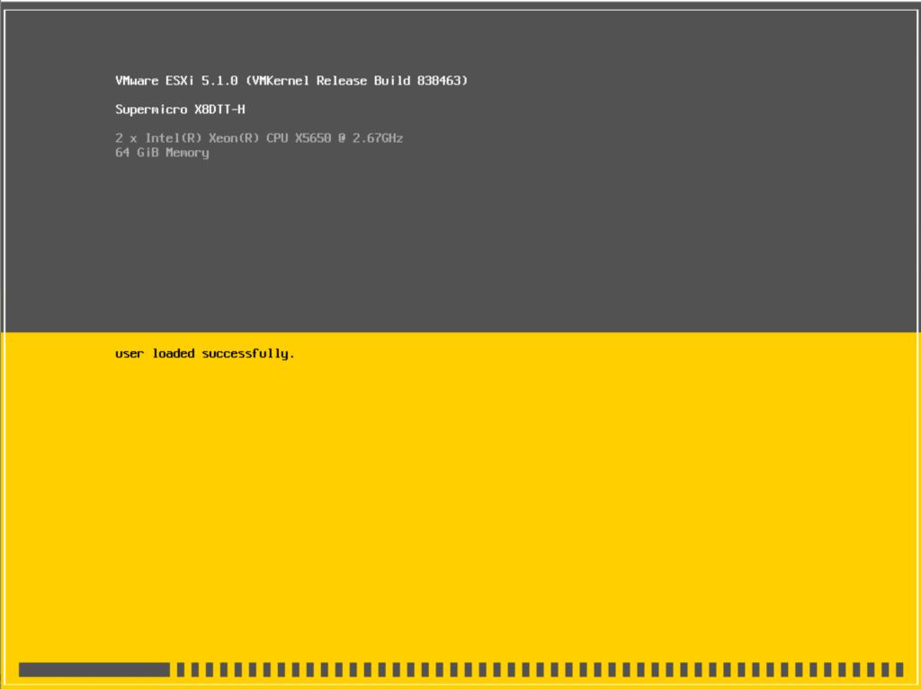 ESXi 5.1 boot screen