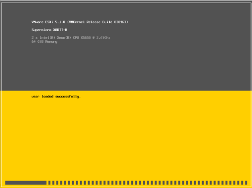 ESXi 5.1 boot screen