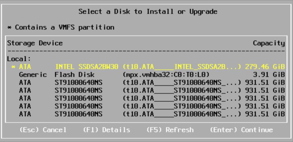ESXi 5.1 upgrade VMFS