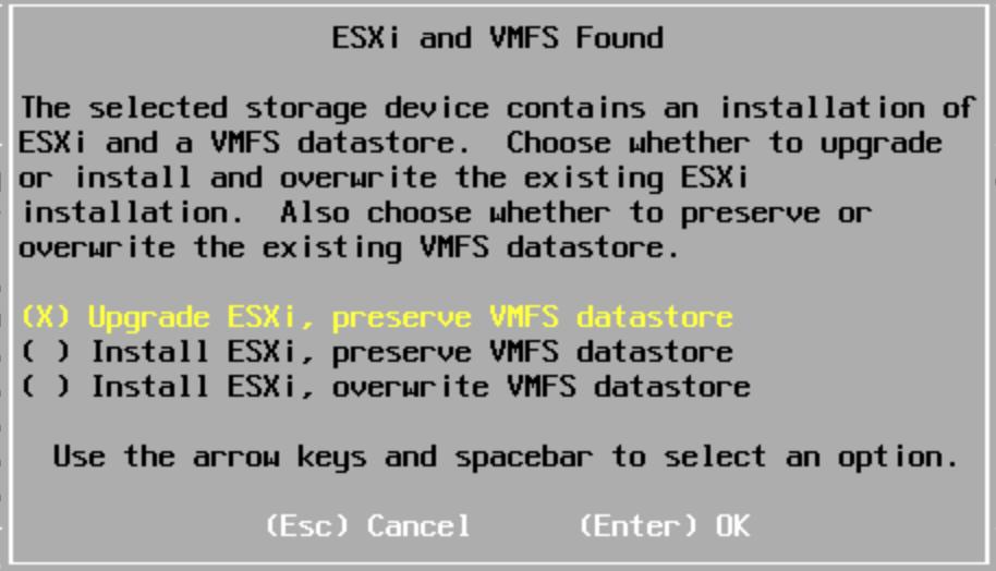Upgrade VMFS ESXi 5.1