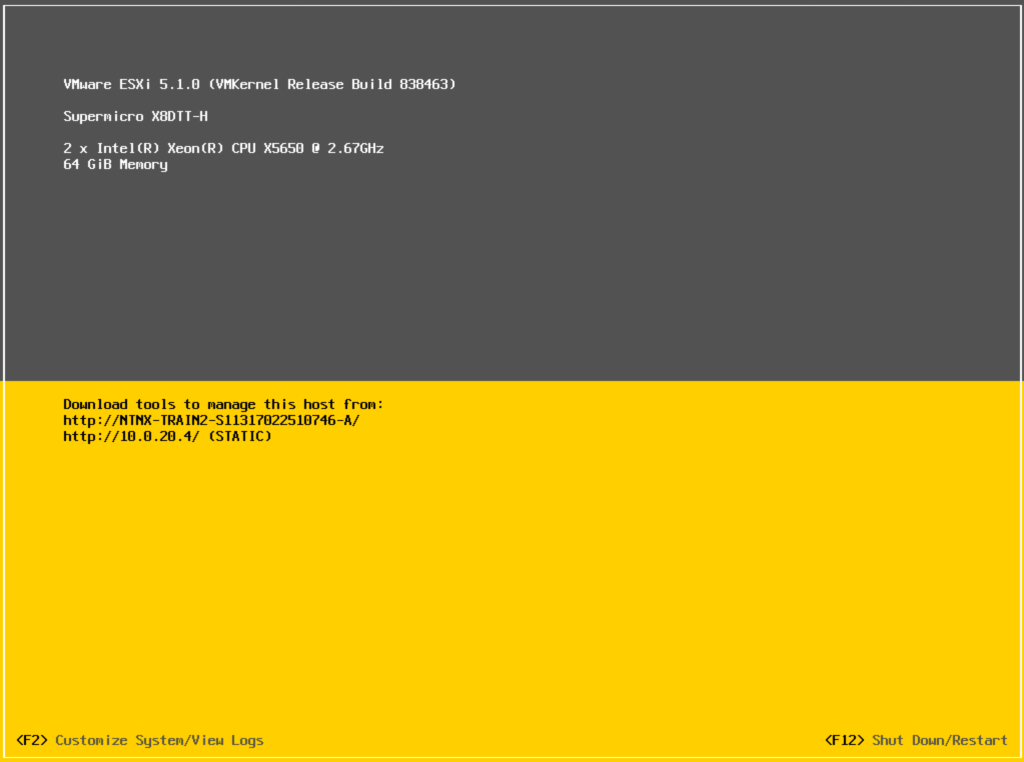 Nutanix - ESXi 5.1 upgrade complete
